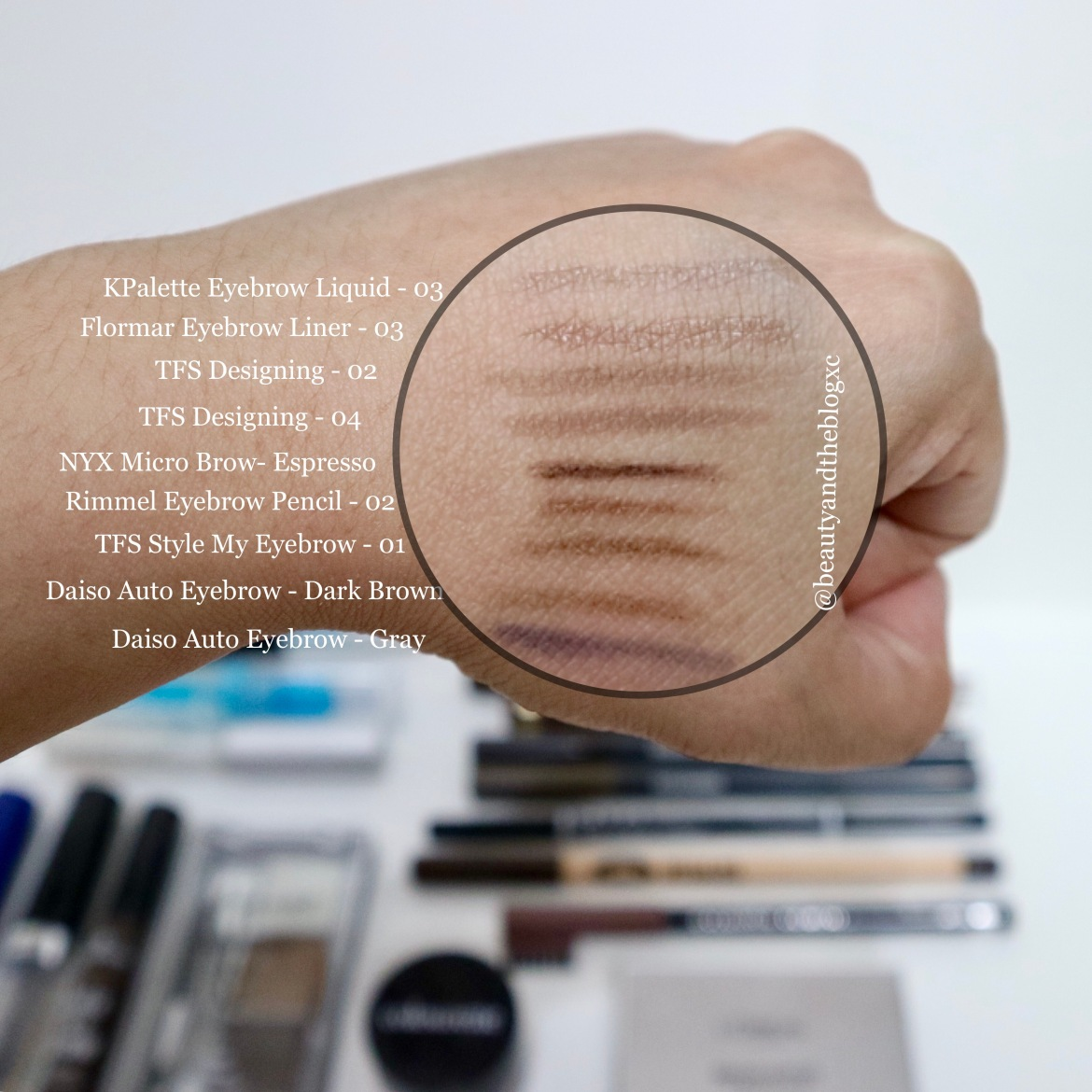 Favorite Eyebrow Products Swatches And Reviews